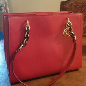 Red Michael Kors satchel barely used